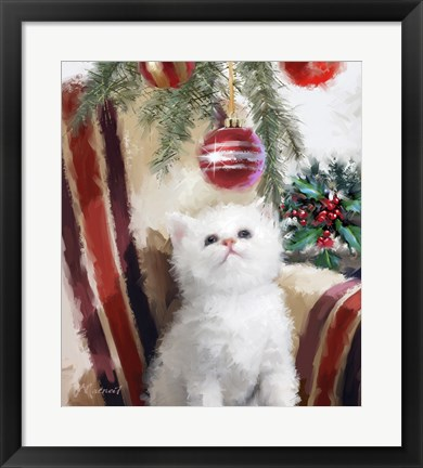 Framed Kitten Chair Print