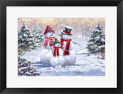 Framed Snow Family 2 Print