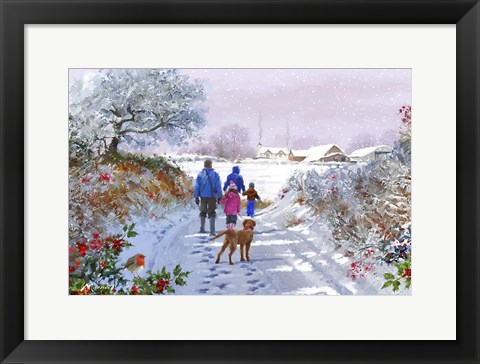 Framed Going For A Walk Print