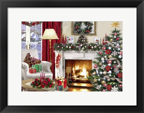 Framed Xmas Interior Print