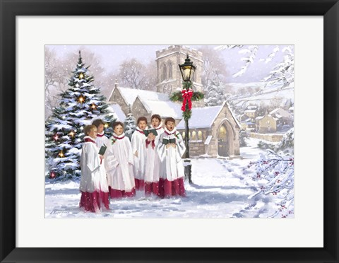 Framed Christmas Choir 2 Print
