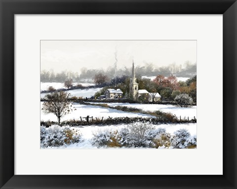 Framed Snowy Fields Print