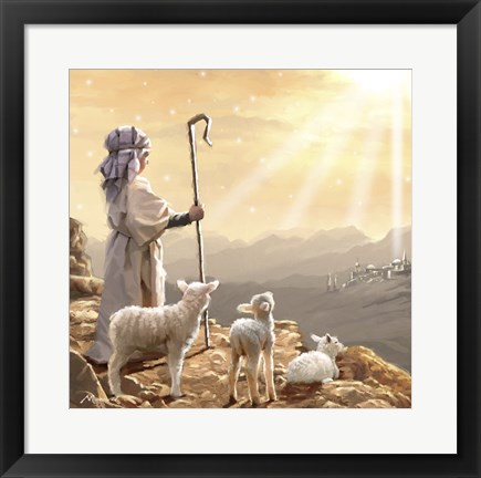 Framed Shepherd Boy 3 Print