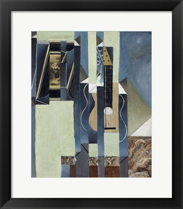 Framed Guitar, 1913 Print