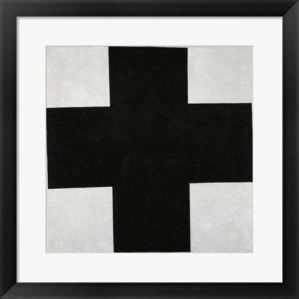 Framed Black Cross, c.1923 Print