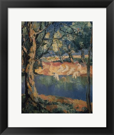 Framed River in the Woods, Late 1920s Print