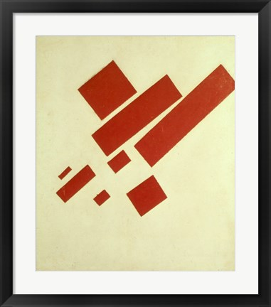 Framed Eight Red Rectangles, 1915 Print