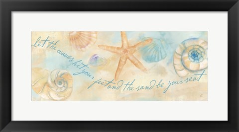 Framed Watercolor Shell Sentiment Panel I Print