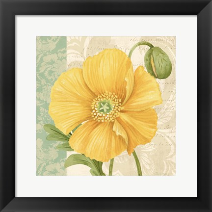 Framed Pastel Poppies I Print