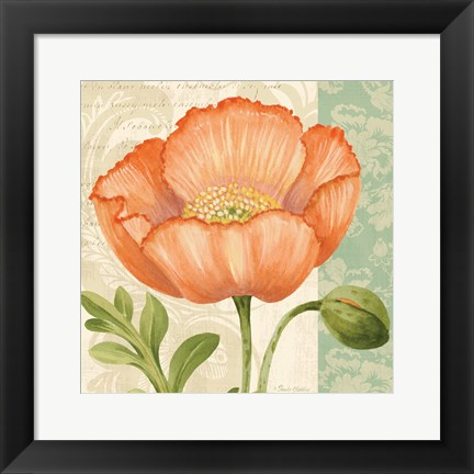 Framed Pastel Poppies II Print