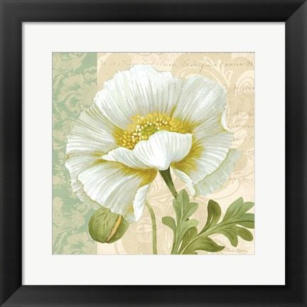 Framed Pastel Poppies III Print