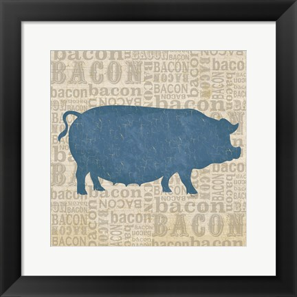 Framed Farm Animals III Print