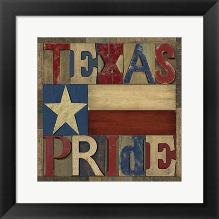 Framed Texas Printer Block II Print