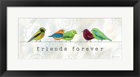 Framed Birds of a Feather I Print