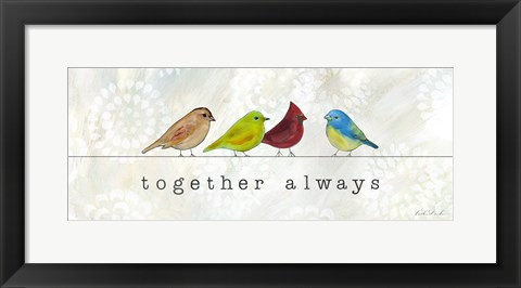 Framed Birds of a Feather II Print