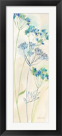 Framed Indigo Wildflowers Panel I Print