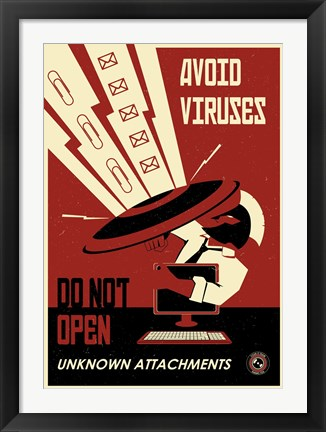 Framed Avoid Downloades Print