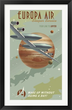 Framed Europa Air Print