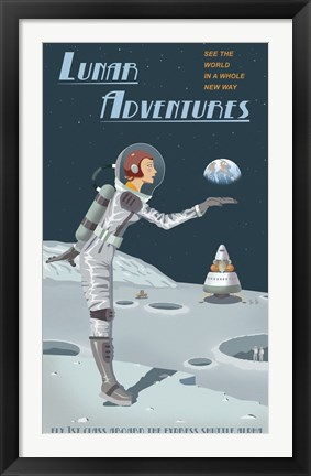 Framed Lunar Adventures Print
