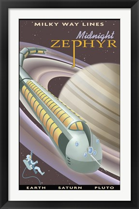 Framed Saturn Midnight Zephyr Print