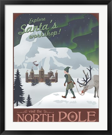 Framed North Pole Christmas Print