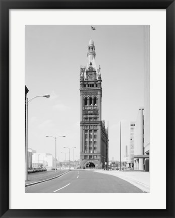 Framed City Hall, 200 East Wells Street, Milwaukee, Milwaukee County, WI Print