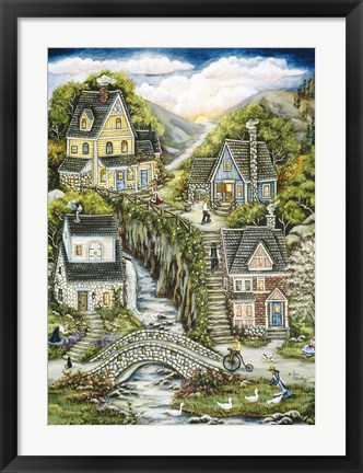 Framed South Mountain Village Print