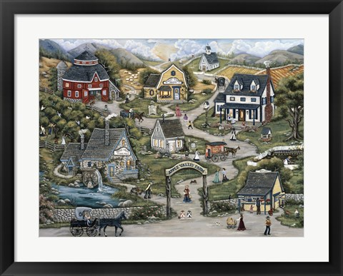 Framed Apple Valley Farm Print