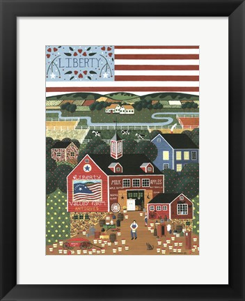 Framed Liberty Valley Farm Print