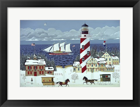 Framed Christmas in the Carolinas Print