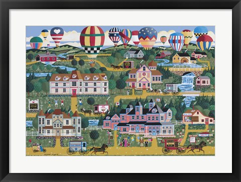 Framed Battle Creek Balloonfest Print