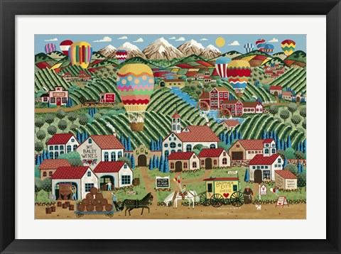 Framed Winery at Mt. Baldy Print