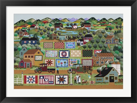 Framed Quilts For Sale Print