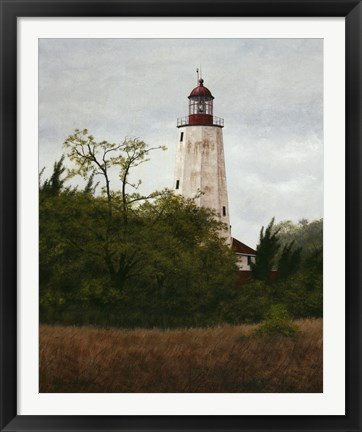 Framed Sandy Hook Lighthouse Print