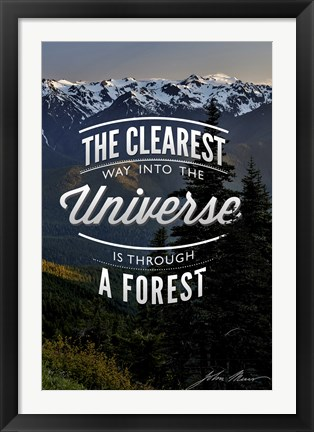 Framed Clearest Way Into The Universe Print