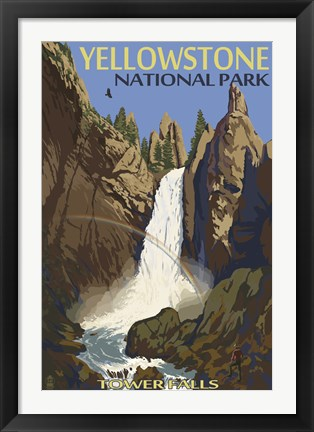 Framed Yellowstone Tower Falls Print