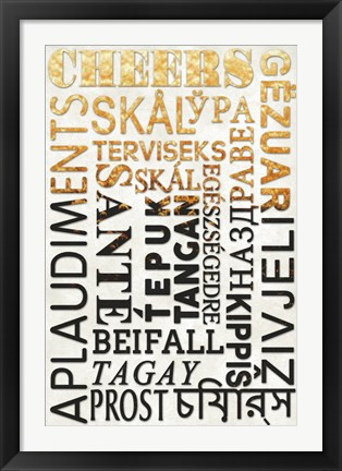 Framed Cheers In Different Languages Print