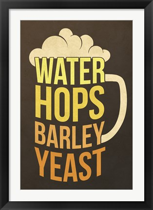 Framed Water Hops Barley Print