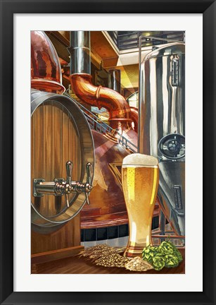 Framed Beer Distillery Print