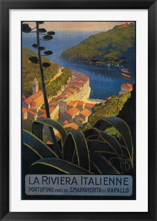 Framed La Rivieria Italienne French Print