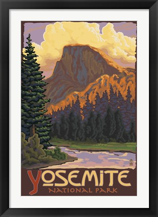 Framed Yosemite National Park Scene II Print
