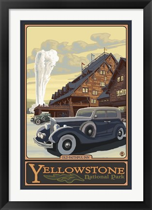 Framed Old Faithful Inn Yellowstone Ad Print