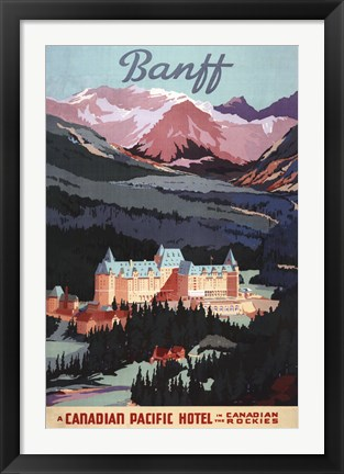 Framed Canadian Pacific Hotel Print