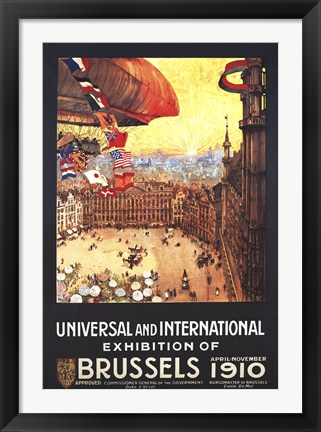 Framed Brussels 1910 Exhibition Print