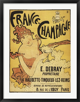 Framed France Champagne Print