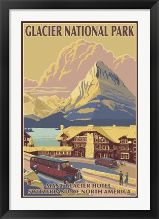 Framed Glacier National Park Ad Print