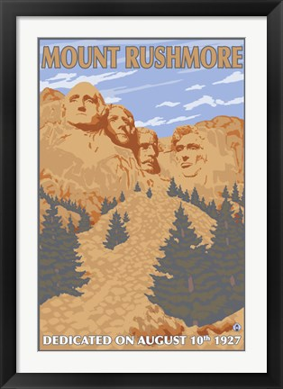 Framed Mount Rushmore 1927 Ad Print