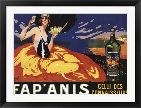 Framed Fap Anis Wine French Print