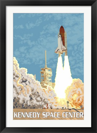 Framed Kennedy Space Center Ad Print