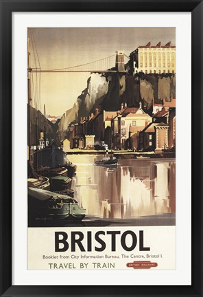 Framed Bristol British Airways Booklet Print